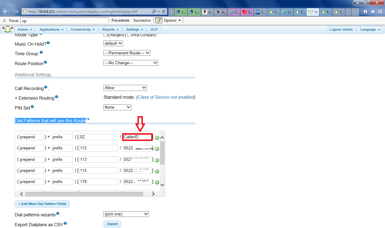 FREEPBX-7926] Outbound route - CallerID in dial patterns don't match