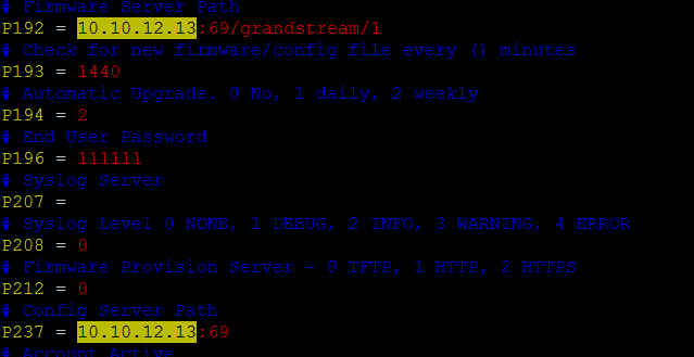 FREEPBX-13533] Endpoint Manager > Grandstream > Config